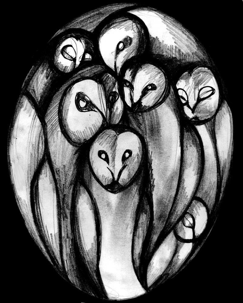 Familia De Buhos by Tefian