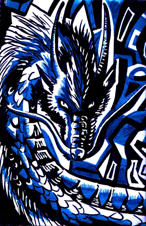 Blue Ryu by Tefian