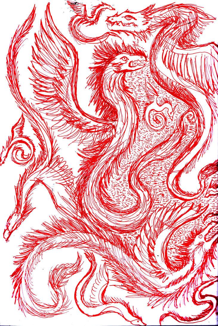 Dragones Emplumados by Tefian