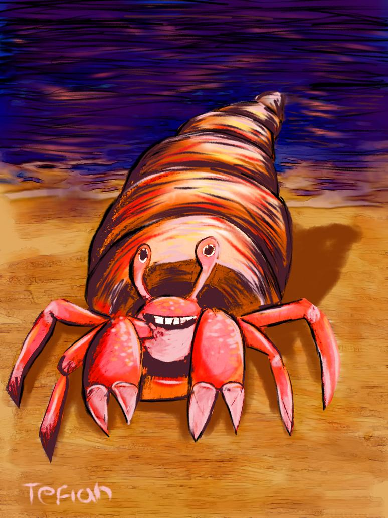 Happy Crab by Tefian