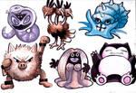 My Nuzlocke Team- Watercolors