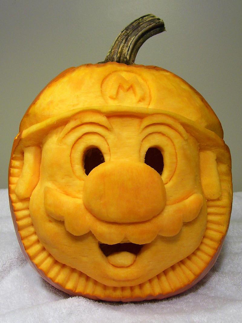 2007 mario pumpkin carving 1 by punkbouncer on deviantart
