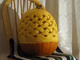 Weave pattern pumpkin by PunkBouncer