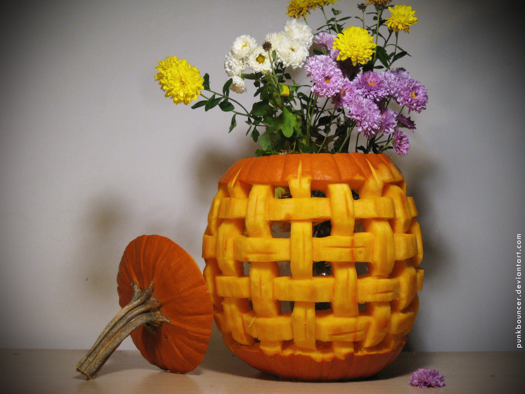 Flower basket by punkbouncer on deviantart
