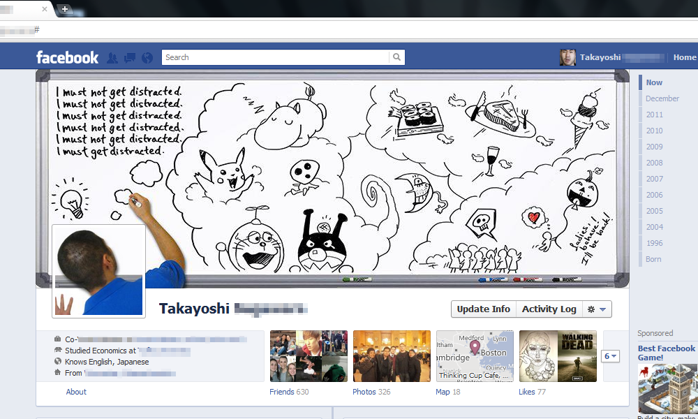 Whiteboard Doodles - Facebook Timeline by PunkBouncer