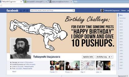 Birthday Pushup Challenge - Facebook Timeline