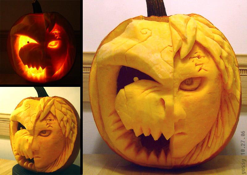 2006 - Gaara and Shukaku Pumpkin by PunkBouncer