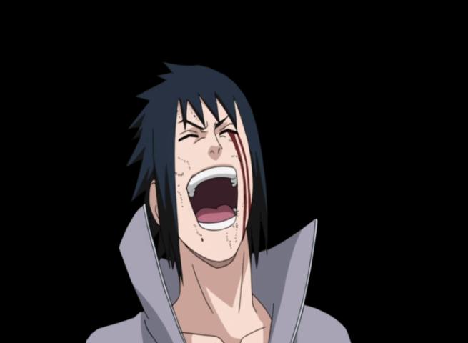 funny anime transparent: Laughing Sasuke Shippuden Render By Nostromoxwallpaper On