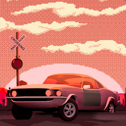 Cars and Pixels | Mustang Sunrise