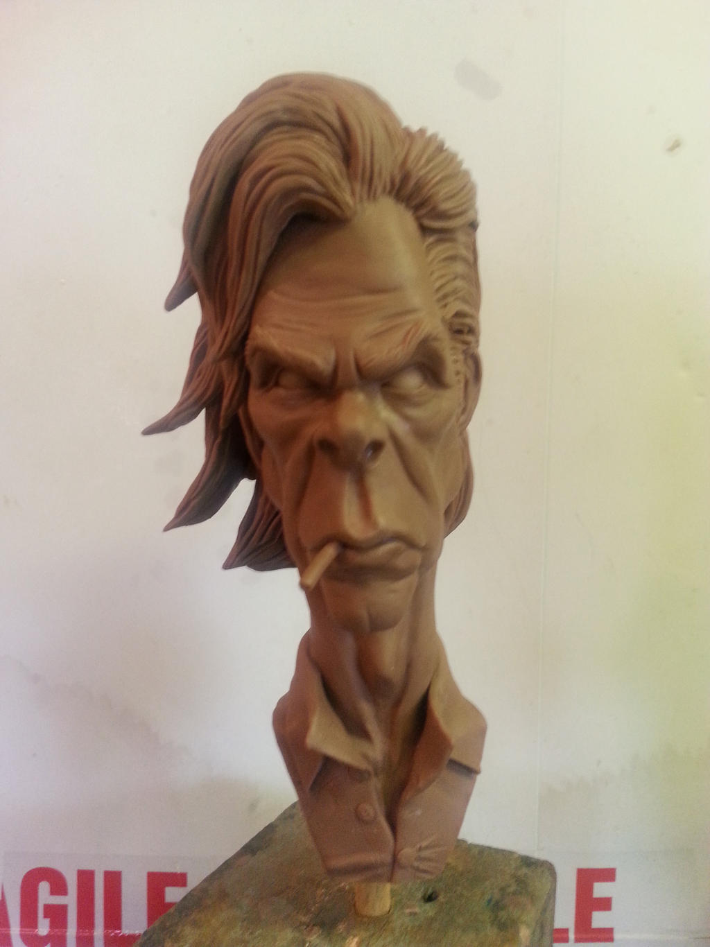 Nick Cave caricature bust by logan250