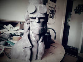 1/2 scale Hellboy Bust