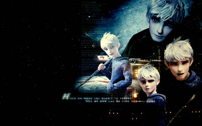 Hold On {Jack Frost Wallpaper} by HeartlessMia