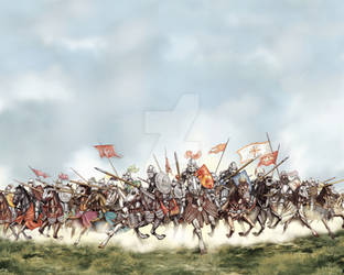 Charge of the Serbian knights by banekerac