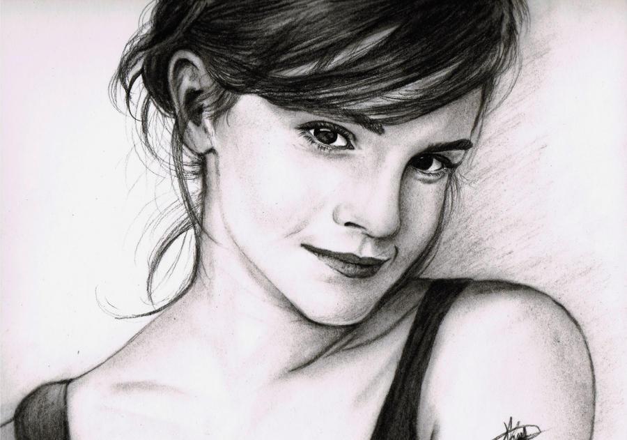 Emma watson sketch by rayjaurigue