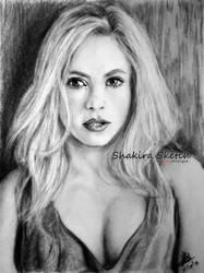 young Shakira drawing by rayjaurigue