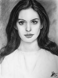 Anne Hathaway Sketch by rayjaurigue