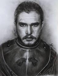 Jon Snow Sketch by rayjaurigue