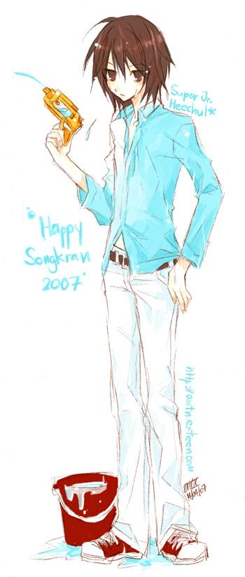 Heechul : HAPPY SONGKRAN Day by ~Omtn-DNfanzZ on deviantART