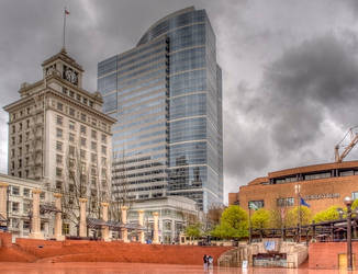 Pioneer Courthouse Square by kdiff3