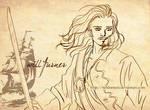 Pencil Sketch - Will Turner by Neldorwen