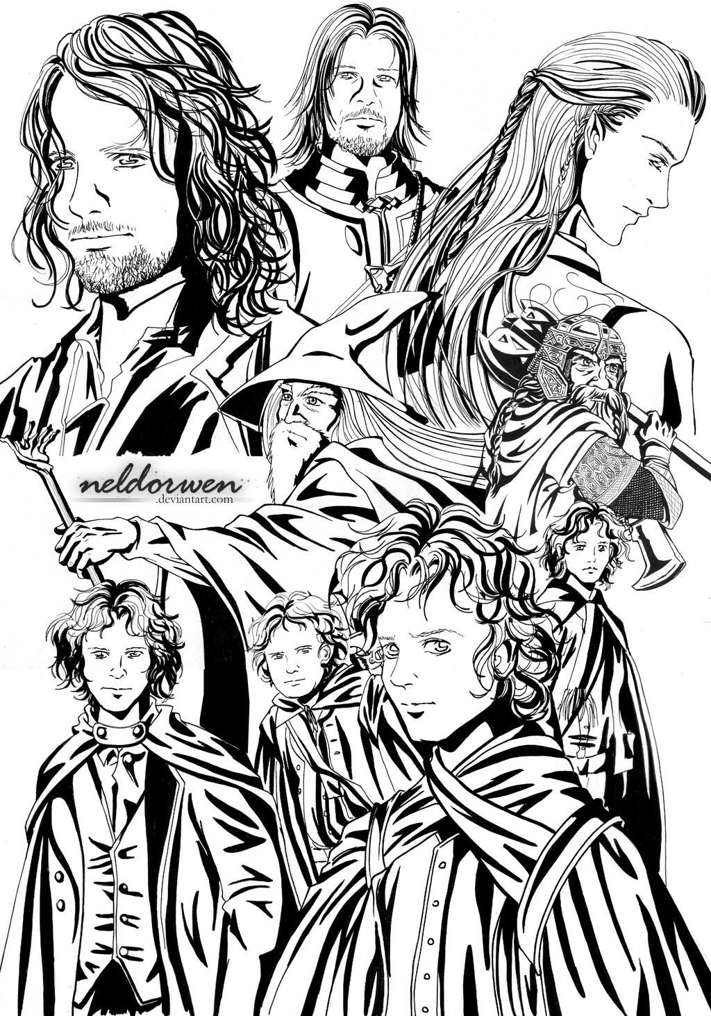 Bonito Dibujos De Lord Of The Rings Embellecimiento - Enmarcado Para ...