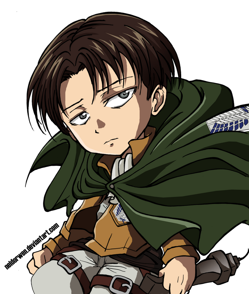 Chibi Levi from SNK by Neldorwen
