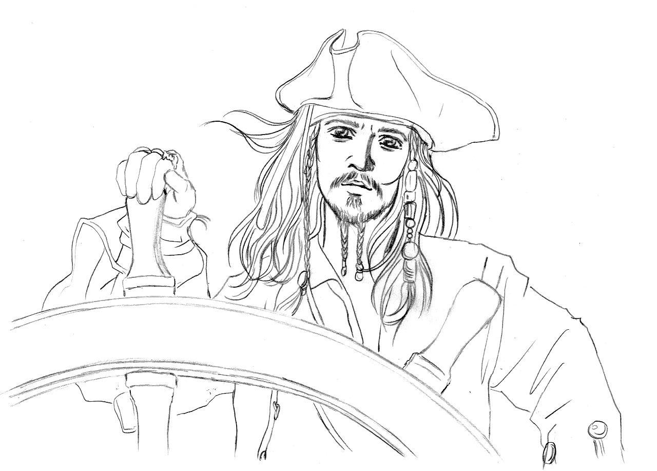 coloring pages jack sparrow - photo#5