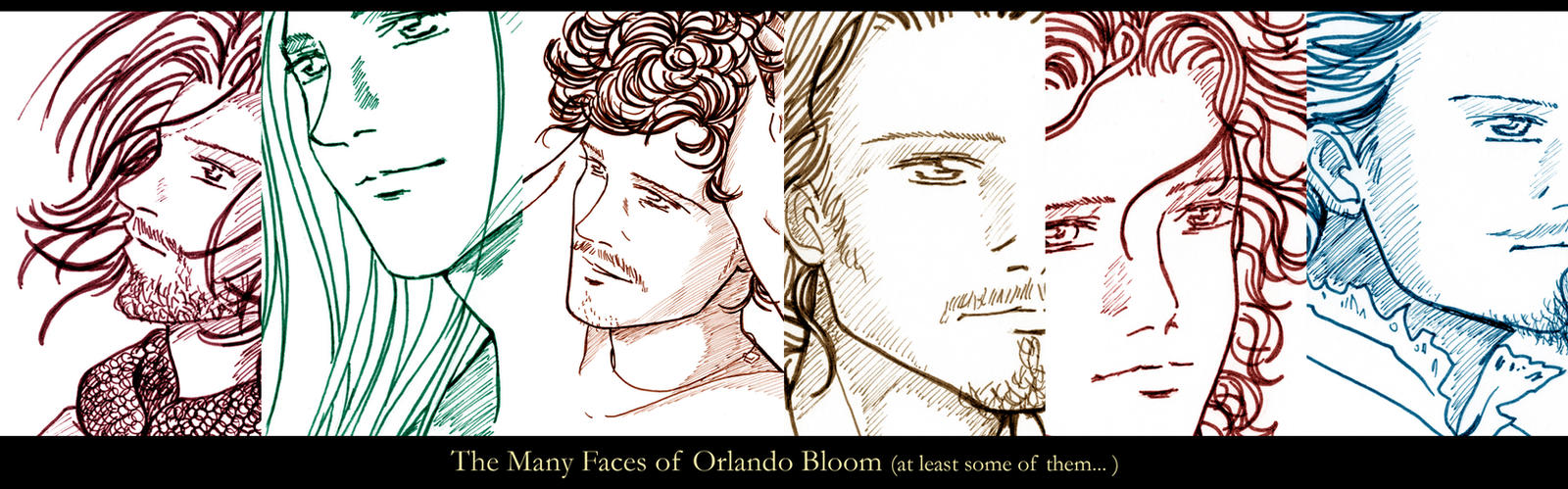 the many faces of Orlando Bloom by Neldorwen