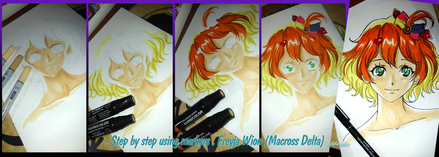 Step by Step with markers - Freyja Wion by Neldorwen