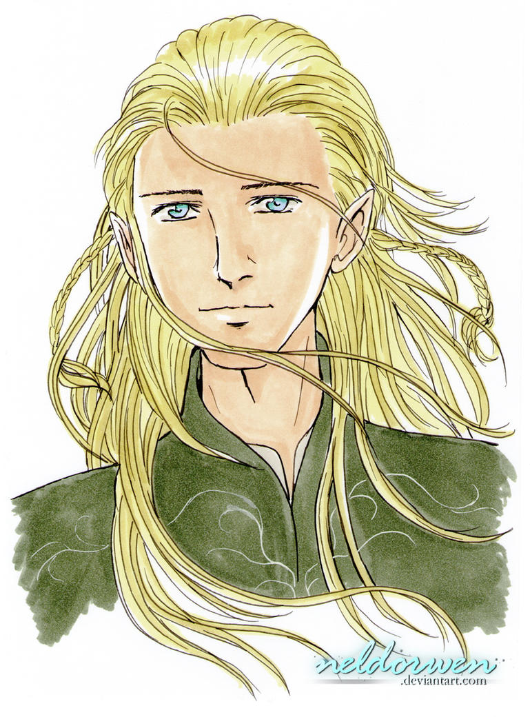Legolas -in markers- by Neldorwen