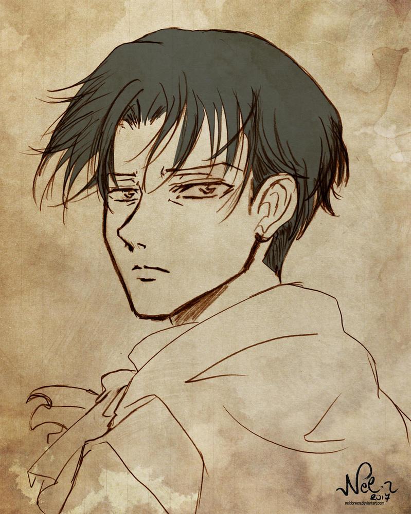Levi doodle para Asphil by Neldorwen