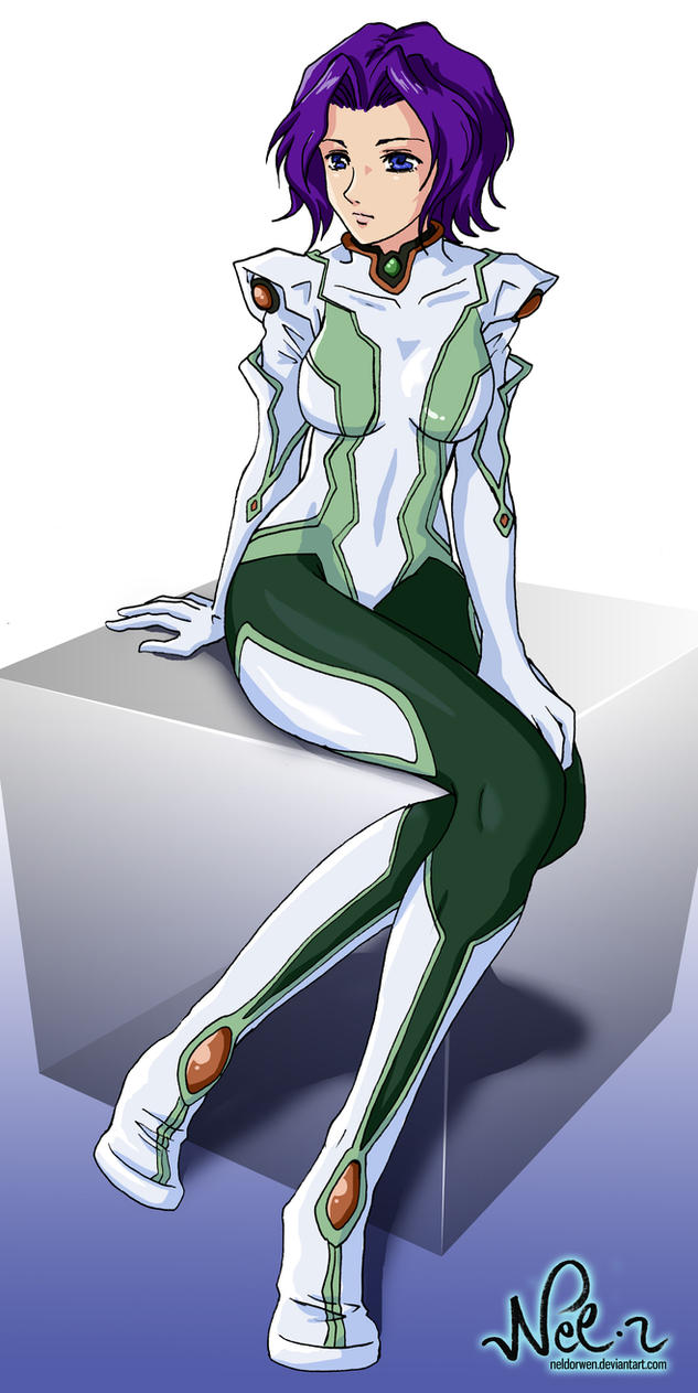 Commission - Miang from Xenogears in flightsuit by Neldorwen