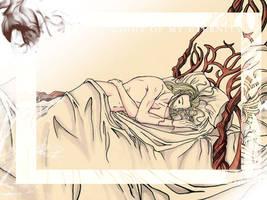 Sleeping Legolas - color - by Neldorwen