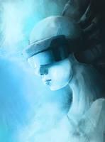 Cyberpunk girl by TheDoubleDwarf