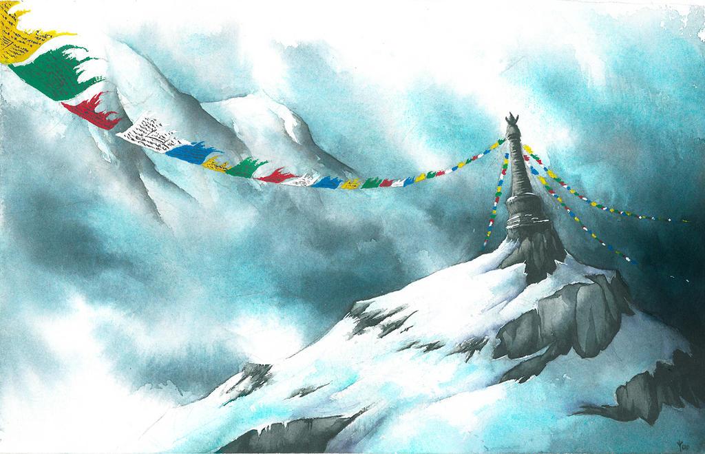 Chorten peak by TheDoubleDwarf