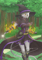 Commission : Little Black Witch by Ryusyai