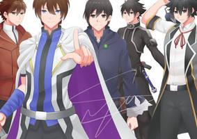Commission : Knights by Ryusyai