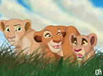 Lionesses Chasing