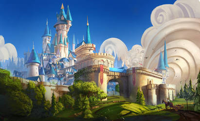 Golden castle by Nezariel
