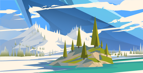 Icy landscape