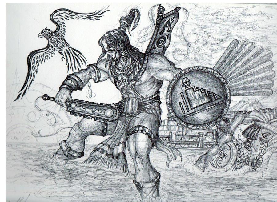 Guerrero Azteca By Spartanblood2011 On Deviantart