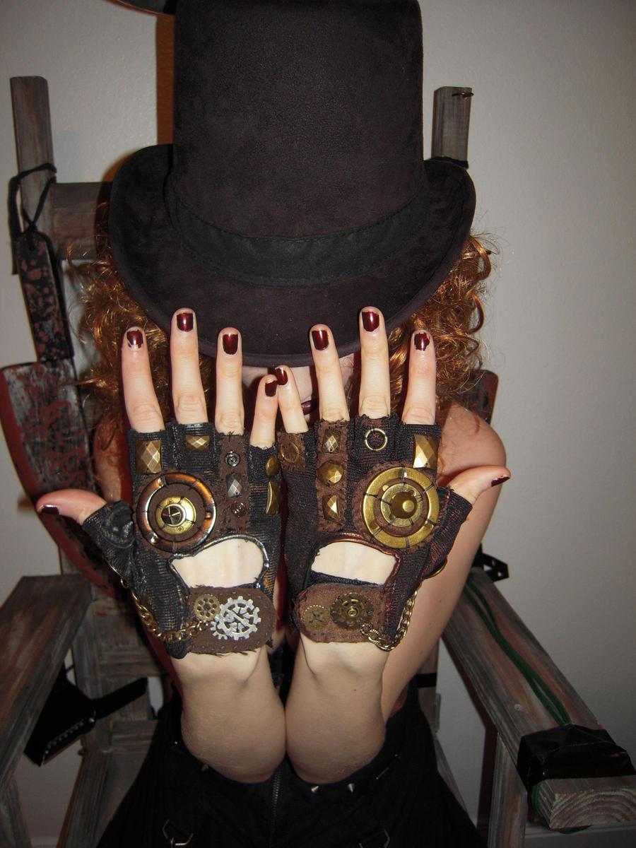 steampunk gloves by moonhoar on deviantart