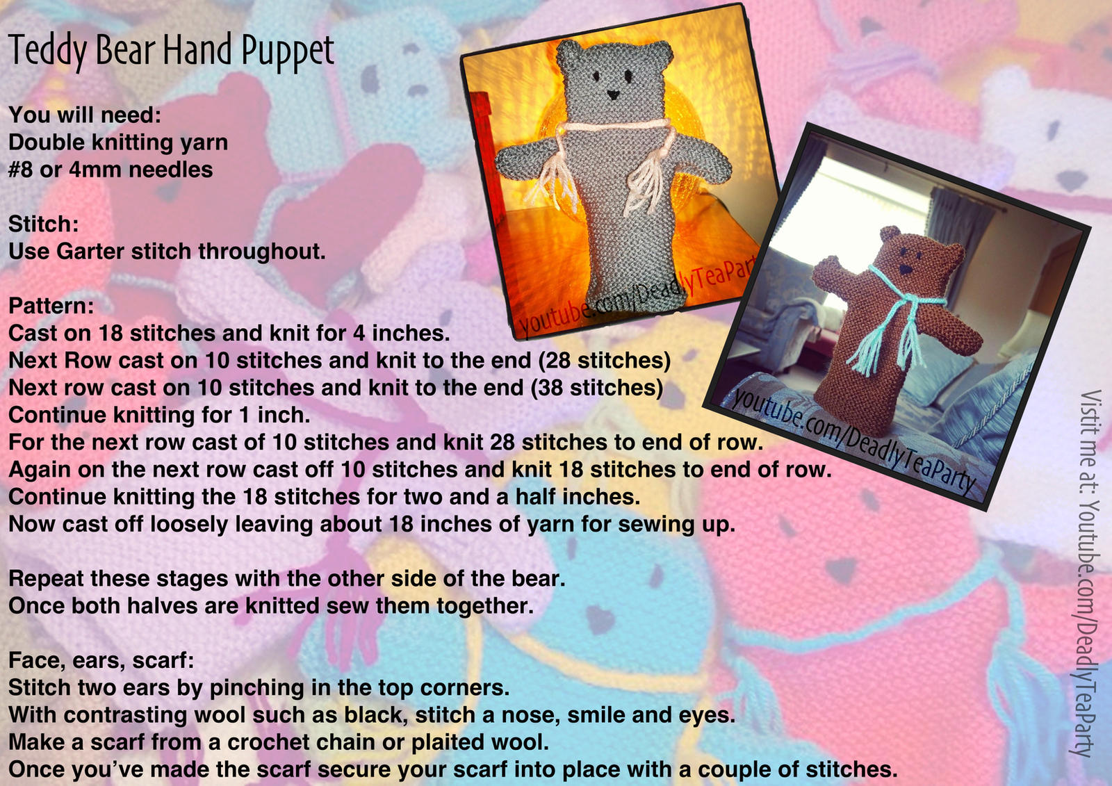 Teddy Bear Hand Puppets by CrystalGoldfinch