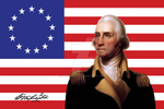 George Washington And Flag