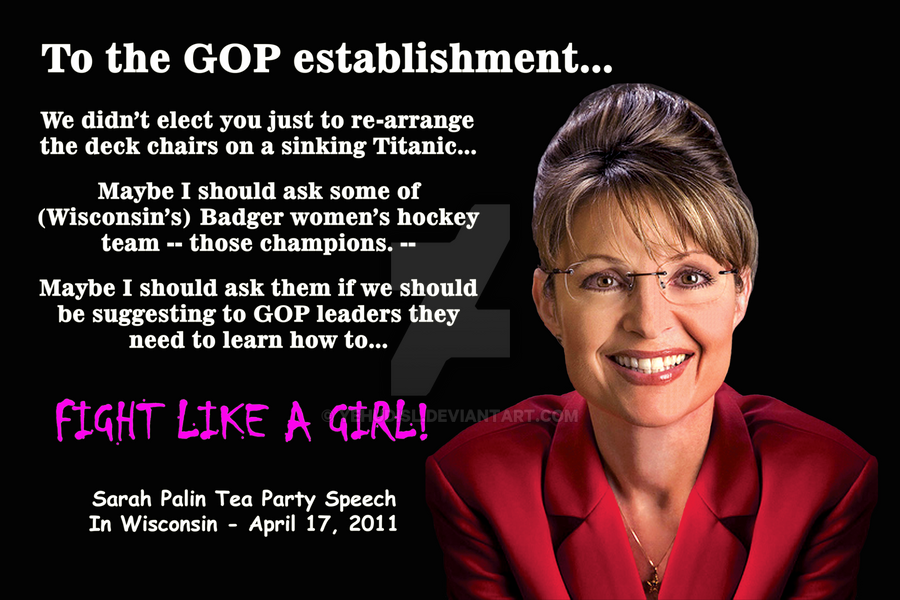 Image result for palin fight like a girl