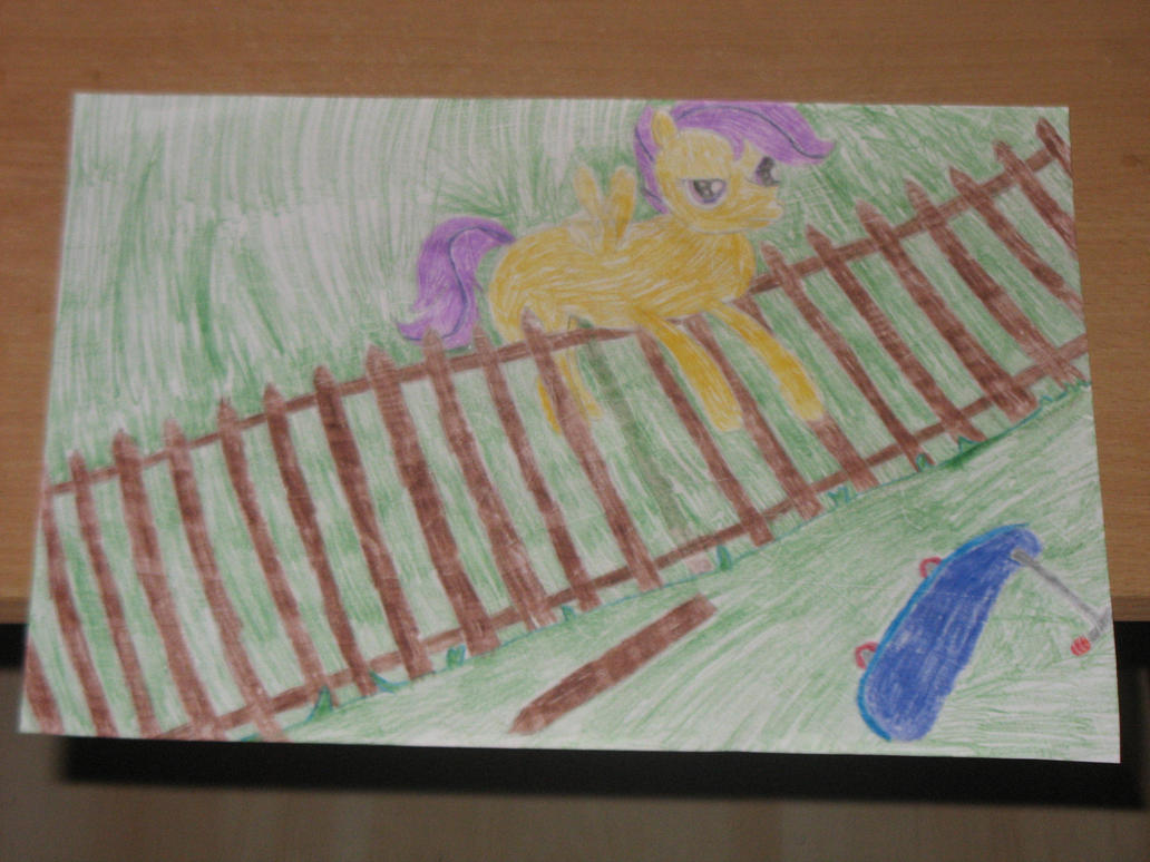 NATG VI - Makeup Day 1: Scootaloo is on the fence by CMC--Scootaloo