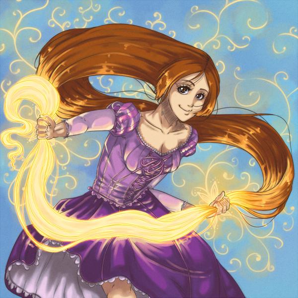 Orihime Rapunzel by Mute-Massacre