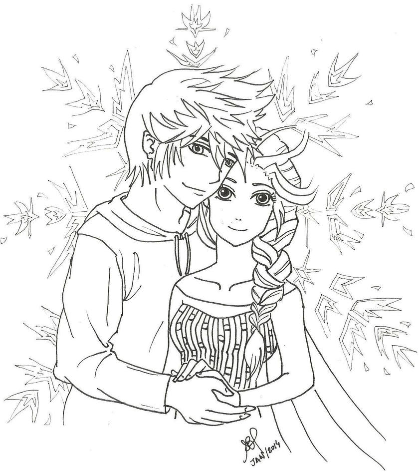 Adult Cute Jack Frost Coloring Pages Gallery Images top elsa and jack frost coloring pages now queen made to be together by signsamanta sned gl images