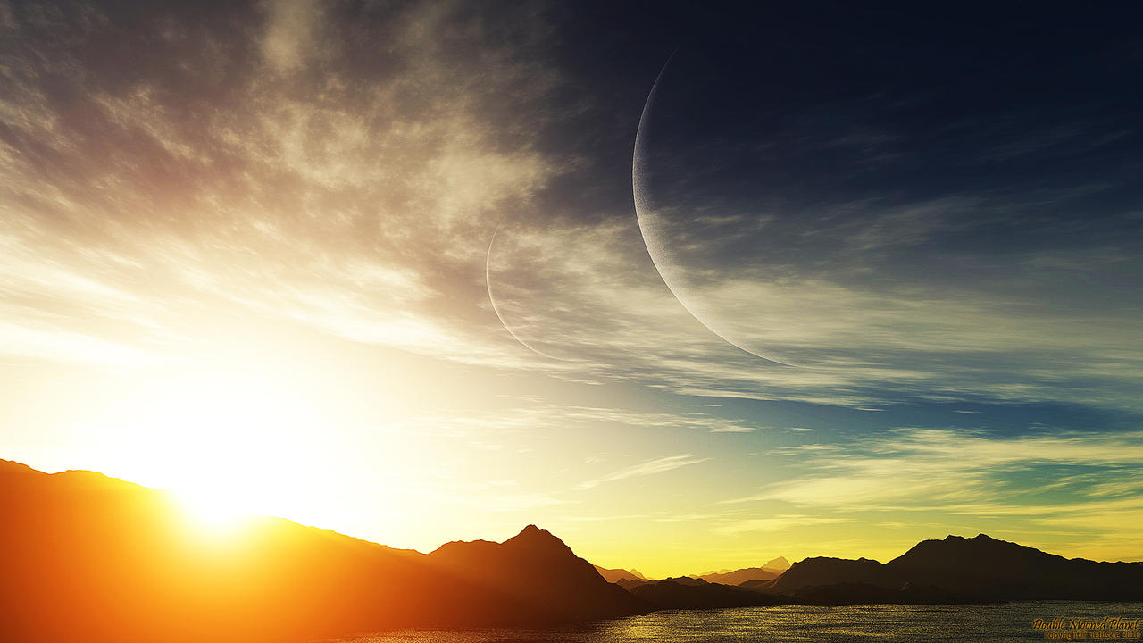 Double Mooned Planet