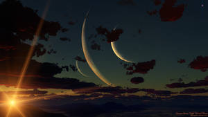 Crimson Dawn: Triple Mooned Planet